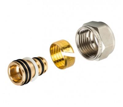 """Концовка компрессионная для м/пластиковых труб 16х2,0х1/2"""" с евроконусом SFC-0022-001620 STOUT"""
