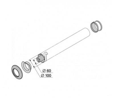 Соосная труба 60/100 мм, длина 500мм 3945 PROTHERM