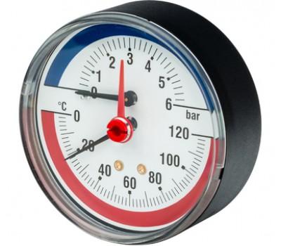 """03.32.006 (10018742) F+R818 Термоманометр аксиальный 1/2"""",80 мм (0-6 бар,120гр.) 03.32.006"""
