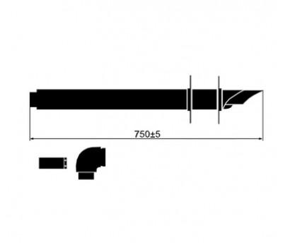 303807 Комплект для горизонтального дымохода D60/100, L=800мм 303807 VAILLANT
