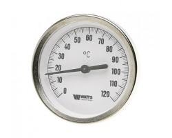 """03.02.100 Термометр биметаллический  d80 x1/2"""" с погр.гильзой 100мм 03.02.100"""