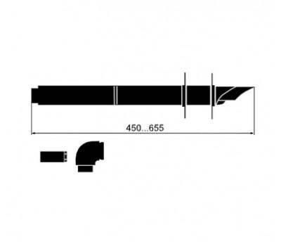 303806 Комплект телескопический для горизонтального дымохода D60/100, L=45-66см 303806 VAILLANT