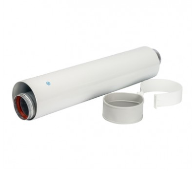 Труба коаксиальная D60/100 с хомутом, длина 500 мм SCA-6010-000500 STOUT