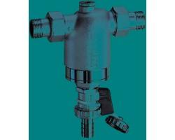"""FA 3944 12  Хромированный фильтр мех. очистки промывной 1/2"""" (50мм) НР-НР 300мк (с манометром)"""