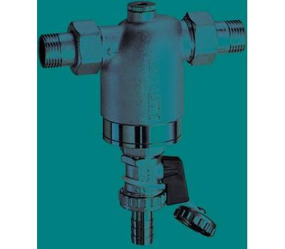 """FA 3944 12  Хромированный фильтр мех. очистки промывной 1/2"""" (50мм) НР-НР 300мк (с манометром) FA 3944 12 FAR"""