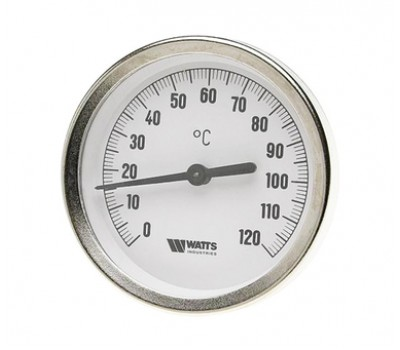 """03.01.100 Термометр биметаллический  d63x1/2"""" с погр.гильзой 100мм 03.01.100"""