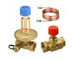 Комплект регулятора перепада давлений ASV-PV и ручного зап.клапана ASV-M, DN25 (диап.0,05-0,25 бар) 003Z2203 DANFOSS