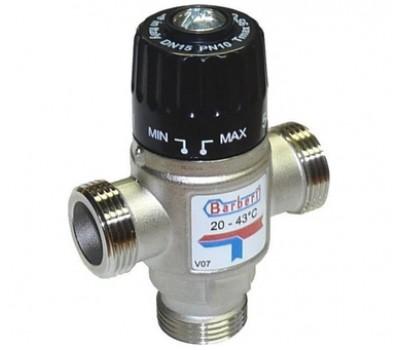 """Термостатический смесительный клапан для систем отопления и ГВС 1""""НР (35-60* С,Kv-2.5) V07M25NBB BARBERI"""