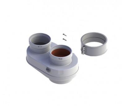 714136210 Адаптер для подключения раздельного дымохода, термостойкий пластик 714136210