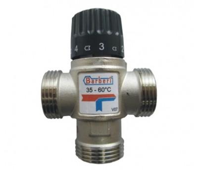 """Термостатический смесительный клапан для систем отопления и ГВС 1""""НР (35-60* С,Kv-1.6) V07M25NAB BARBERI"""