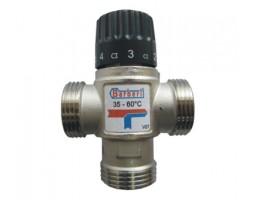 """Термостатический смесительный клапан для систем отопления и ГВС 3/4""""НР (35-60* С,Kv-1.6)"""